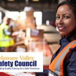 Safety professional in a warehouse
